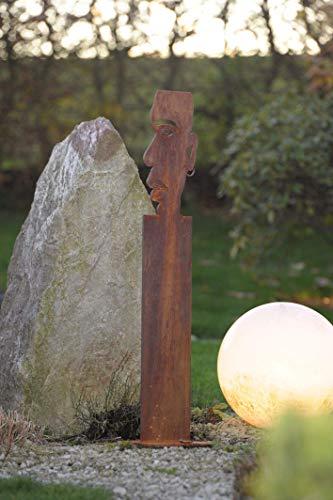 Metal de Papá rostigem Acero, 100 cm de Altura