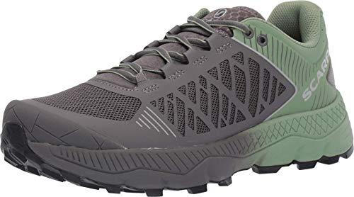 SCARPA Spin Ultra Trail Running Shoe - Womens Shark/Mineral Green 39.5