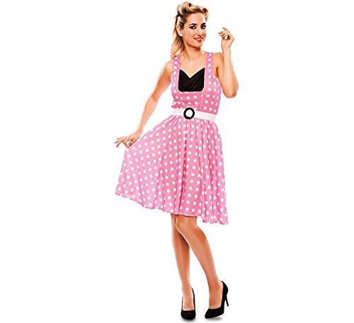 Disfraz de Chica pin-up Rosa para mujer