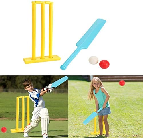 Kids Cricket Set Cricket Bat and Ball Beach Wicket Stand Kit Parent Child Sports Interaction product image