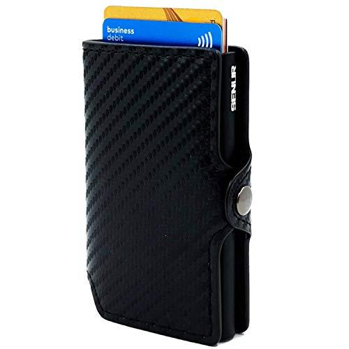 Kaartetui carbon senur | Slim creditcardhouder RFID Blocking | portemonnee portemonnee portemonnee cardhouder