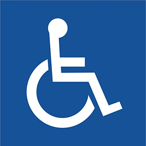 Rollstuhlfahrer Aufkleber (2 Stück) Rollstuhlfahrer Gehbehinderung 105x105 mm für Rollstuhl, Rolli, Fahrzeuge, Transporter, 10 x 10, Behinderten Aufkleber, Rolli Aufkleber, Rollstuhl, Rollstuhlfahrer