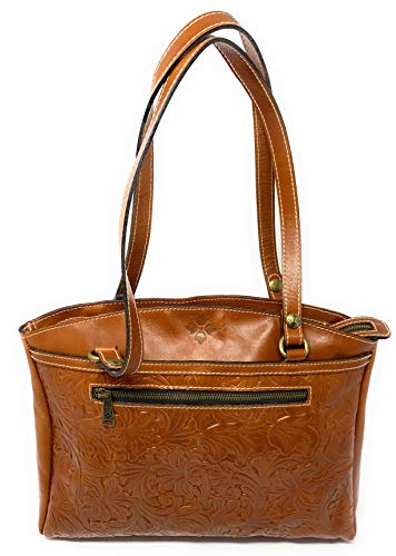 Patricia Nash Poppy Tote Tooled Leather Handbag Purse