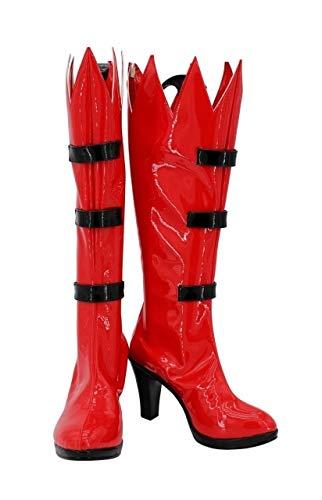 Underfell Papyrus Cosplay Stiefel High Heel Red Schuhe Maßgeschneidert für Erwachsene Frauen Mädchen 47 Frauengröße