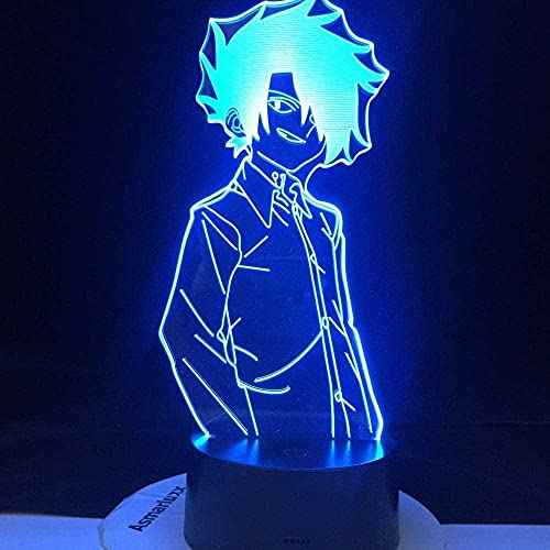 Luz nocturna LED 3D, figura de anime, decoración para el hogar, 7 cambios de color, creativa, para dormitorio, lámpara de mesita de noche, para niños, festival, regalo