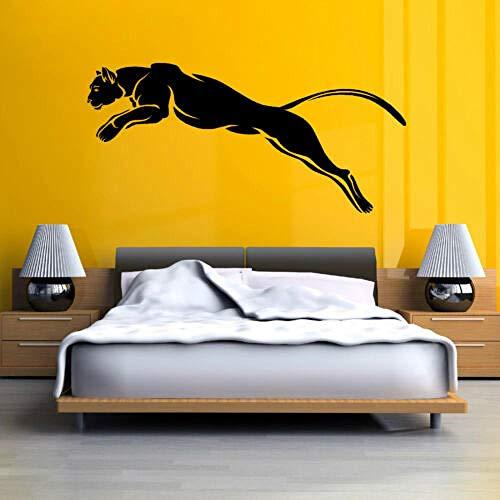 BAOWANG Wandtattoo SCHWARZER PANTHER PUMA JAGUAR Katze wildes Tier Vinyl Wandkunst Aufkleber