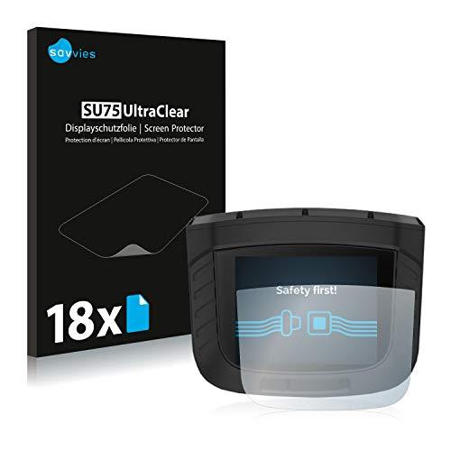 savvies Protector Pantalla Compatible con Garmin Xero S1 (18 Unidades) Pelicula Ultra Transparente