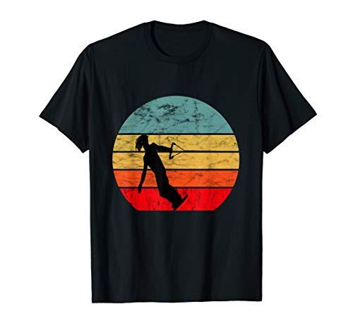 Wakeboarder Vintage Sunset Retro Sonnenuntergang Wakeboard T-Shirt