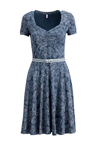 Blutsgeschwister Damen Kleid mze kze Dress Fluffy Feather (S)