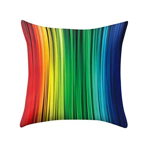 Kreative visuelle Wirkung Farbe Regenbogen Hug Kissenbezug, Polyester Sofa Auto Kissenbezug, 45 x 45 cm, für quadratische Kissen waschbar, Dekoration für Office Home Car Cafe Bibliothek