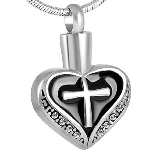 Steel Pendant Memorial Keepsake Cremation Urn Necklace For Ash Holder Stainless Steel Ashes Keepsake Pendant Women Fashion Memorial Jewelry