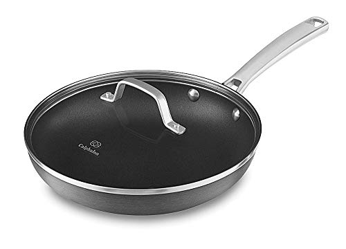 Calphalon Classic 10-Inch Omelette Fry Pan with Cover, Black