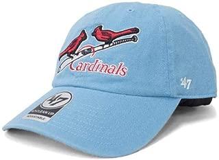 47 Brand(47ブランド) セントルイス・カージナルス Cooperstown Clean Up Adjustable Cap キャップ/帽子 (ブルー)