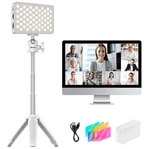 【2020新版】 Ulanzi 調光可能LEDビデオライト 調節可能な三脚 カラーフィルター付き 卓上 ローアングル撮影 照明LEDライト 色温度3200/5600K 撮影ボックス zoom/Vlog/YouTubeビデオカメラ/写真/仕事会議/に適用