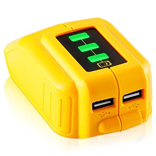 【2 USB Ports & Power Display】 TenHutt 12V/20V Max USB Power Source...