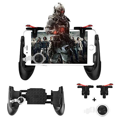 Newseego Controladores de Juegos Móviles, Disparadores de Teléfono para Teléfono Móvil, Controlador Joysticks Gamepad para L1R1 (1 par de Disparadores + 3 en 1 Gamepad Portátil)