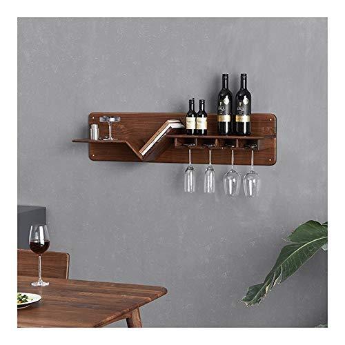 ALBBMY Weinglas Hanger unter Kabinett Glas-Rack Stemware Rack-Schrank- (Color : Black Walnut)