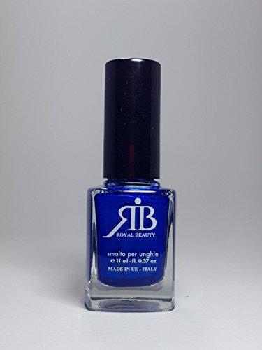 ROYAL BEAUTY Vernis à ongles n° 25 couleur bleu nacré 11 ml, fabriqué en Italie.