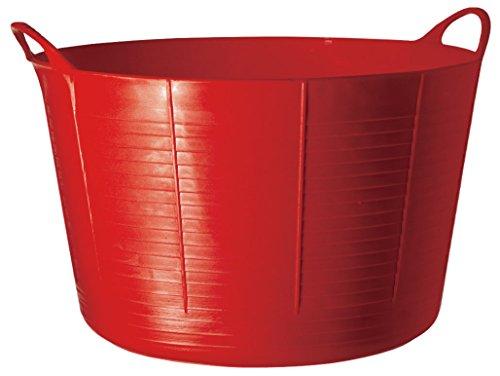 TUBTRUGS Seau Seau Souple, 75 l Grandes Capacité 57x57x33 cm Red