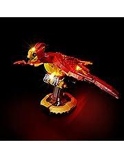 LYCH LED-belysningsset för LEGO Harry Potter Fawkes Dumbledores Phoenix byggsats, belysning kompatibel med LEGO 76394, utan Lego Set