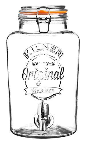 Karis 0025.405 Distributeur à boisson 5 L en verre Transparent, 25,4 x 18,2 x 31,5 cm