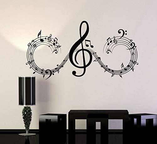 hetingyue kamerdecoratie muzieknoten muziek kunstdrukpapier mode huissticker