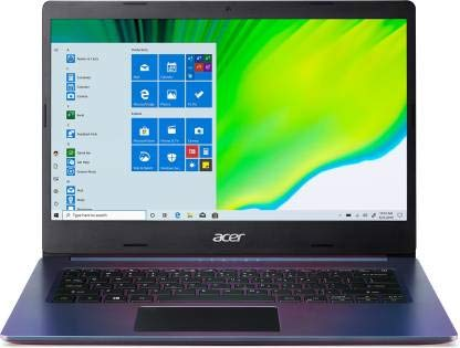 Acer Aspire 5 Intel Core i3 10th Generation 14' - (4 GB/512 GB SSD + 32 GB Optane/Windows 10 Home/Intel UHD Graphics /1.5Kg/Purple) A514-53