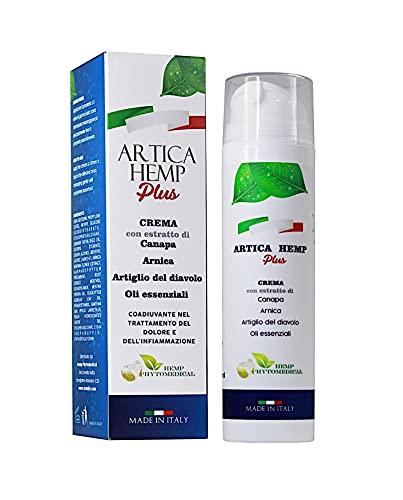ARTICA Hemp Plus Crema con Arnica, Artiglio del Diavolo e Olio di Canapa_Made in Italy