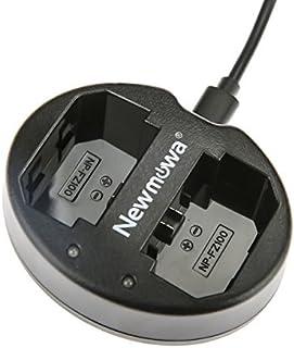 NP-FZ100 Newmowa USB Cargador Doble para Sony NP-FZ100BC-QZ1 y Sony a6600Alpha 9A9Alpha 9RA9RAlpha 9SA7RIIIA7R3a7 III