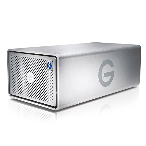 G-Technology G-RAID 20TB (Retirable 2 x 10TB Ultrastar/Enterprise Clase HDD) RAID 0/1 Thunderbolt 2, USB 3.0, 480MB/s, 5 años de garantía