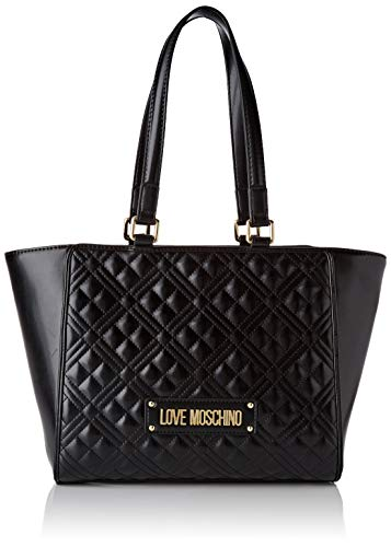 Love Moschino Damen Jc4200pp0a Tragetasche (Tote Bag), Schwarz (Black Quilted), 40x20x12 Centimeters