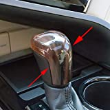 JIECHEN Sport Style Carbon Fiber Print or Wood Grain Auto Gear Shift Knob Cover Trim for Toyota Camry 2018 2019 2020 Avalon Corolla Hatchback 2019 2020 (Wood Grain)