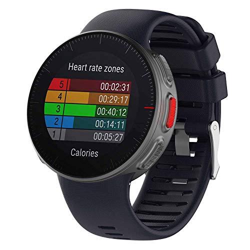 HappyTop Armband kompatibel mit Polar Vantage V Watch, Silikon Sport Watch Band Ersatz-Armband, Herren, marineblau
