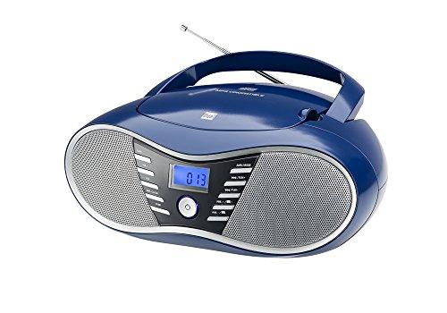 Dual P 60 BT Portable Boombox (FM-radio, CD-speler, Bluetooth voor audiostreaming, USB-aansluiting) blauw