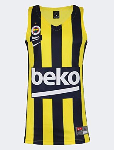 NIKE Fenerbahce M NK JSY Replica - Camiseta sin Mangas, Hombre, Multicolor(Yellow Strike/White)