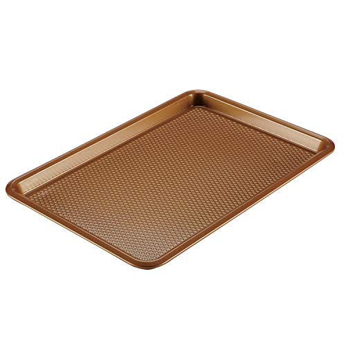 Ayesha Curry Nonstick Bakeware, Nonstick Cookie Sheet / Baking Sheet – 11 Inch x 17 Inch, Copper Brown