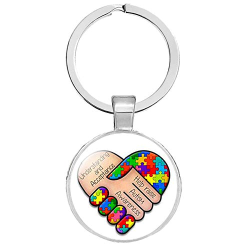 Autismus Bunte Puzzle Symbol Schlüsselanhänger Kümmern Sich Um Autismus Verbreiten Liebe Schlüsselringe Kinderschmuck Zubehör