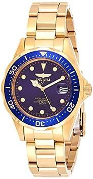 Invicta Men s Pro Diver 37.5mm Gold Tone Stainless Steel Quartz Watch Gold  Model  17052