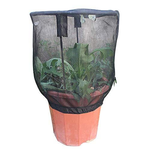 Plant Net Cover Protective Zipper Mesh Net Bag Garden Plant Cover Fruit Protection Garden Cover for Indoor Outdoor Flower Pot Holder Boho Style Home Decor