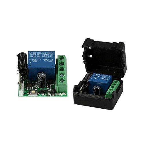 LilyJudy 12 V 1CH 433 MHz interruptor de control remoto universal RF relé receptor 433 MHz transmisor botón módulo DIY kit