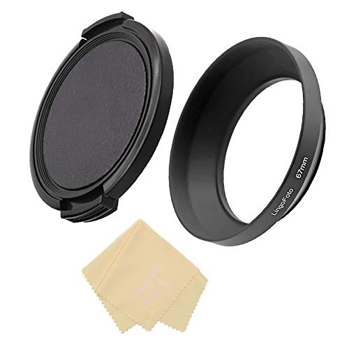 Campana de objetivo de metal de 67 mm con gran angular de 67 mm para Canon Fuji Leica Leitz Nikon, Olympus, Panasonic, Pentax, Sony, lente de 67 mm con tapa de lente de 86 mm