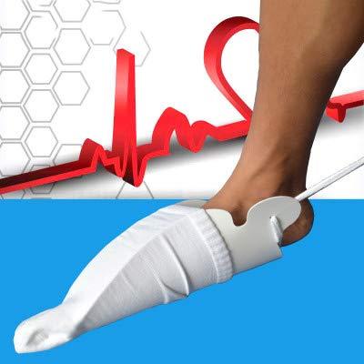 JHKGY Tragen Sie Sockenhilfsmittel, Sockenhilfsmittel, Schwangere Vermeiden Sie Biegen, Behinderung, Ältere Menschen, Sockenwerkzeuge (weiß)