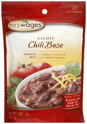 Mrs. Wages W537-J4425 5 Oz Chili Quantity limited 8 Base - Japan Maker New Seasoning Mix
