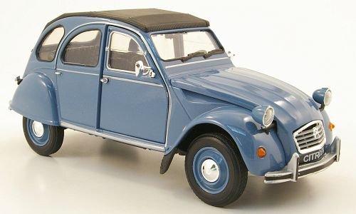 Citroen 2CV, blau, Modellauto, Fertigmodell, Welly 1:24