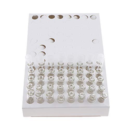 104 Paquetes De 1 Ml De Perfume De Vidrio Vacío/Mezclas De Aromaterapia/Aceites Esenciales Frascos De Muestra Botellas para Viajes - Gorra Blanca Cuerpo Claro