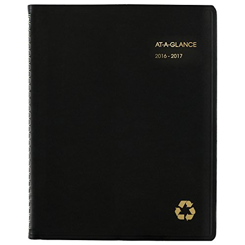 """AT-A-GLANCE 70957G0517 Academic Year Weekly/Monthly Appointment Book/Planner, July 2016 - June 2017, 8-1/4""""x10-7/8"""" (70957G05)"""