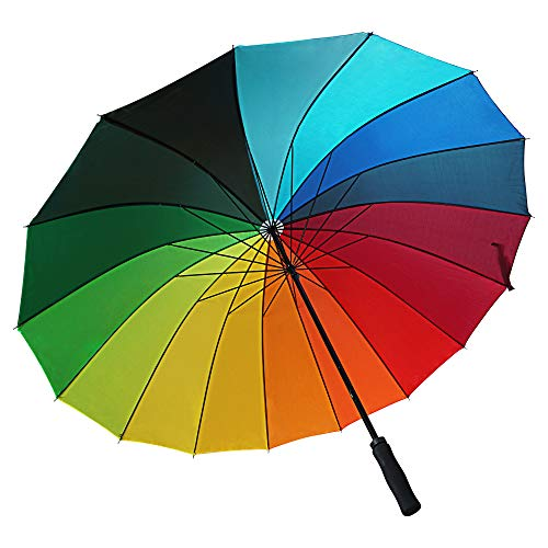 XXL Schirm Rainbow II Regenschirm Partnerschirm Regenbogen Sturmtauglich Ø 130cm Damen