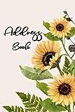 Address Book: Birthdays & Address Book For Addresses, Telephone, Email, Alphabetical Organizer Journal Notebook Sunflower Cover