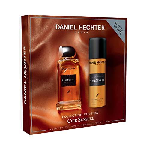 Daniel Hechter - Ecrin Collection Couture Cuir Sensuel - Coffret Cadeau Homme - Eau de Toilette 100 ml - Déodorant 150 ml
