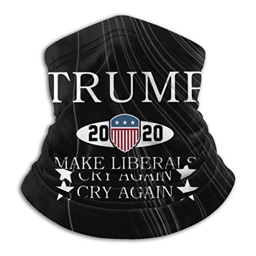 Ewtretr Trump 2020 Liberale Wieder zum Weinen bringen Winter Fleece Neck Gaiter Neck Warmer Gesichtsmaske Outdoor